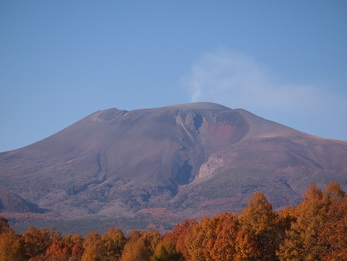 Mount Asama in Karuizawa, Japan.  Photographed in fall 2015.