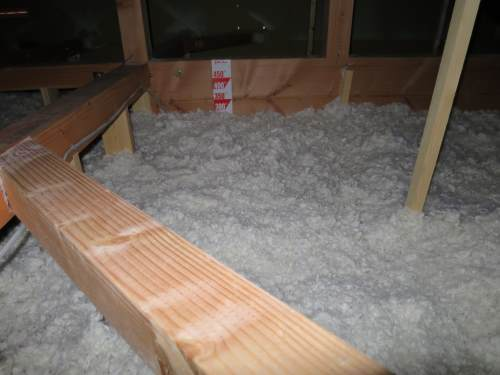 Heat insulation in a house in Karuizawa