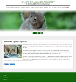 Mellow, the Japanese Squirrel website