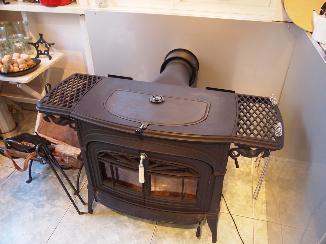 Wood stove in Asama Stove showroom