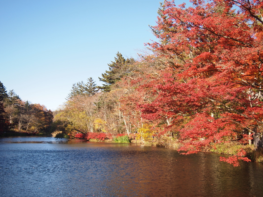 Kumoba Pond in Karuizawa, Japan in October, 2015